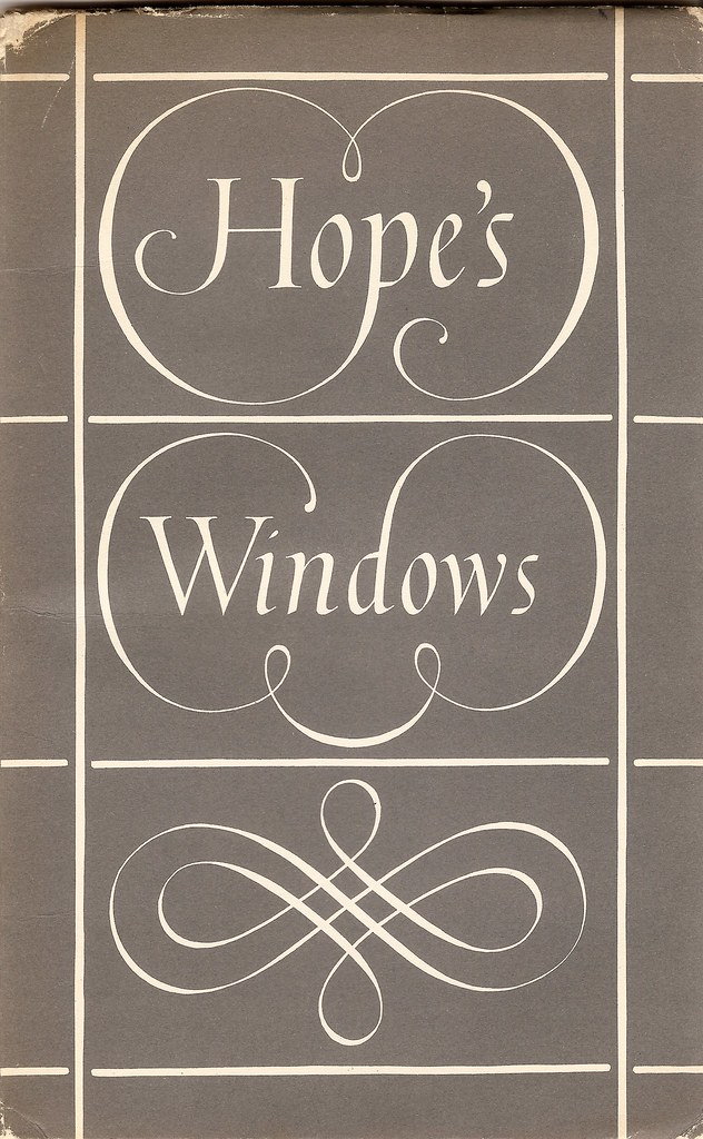 Hope's Windows - cover designed by Reynolds Stone, 1958