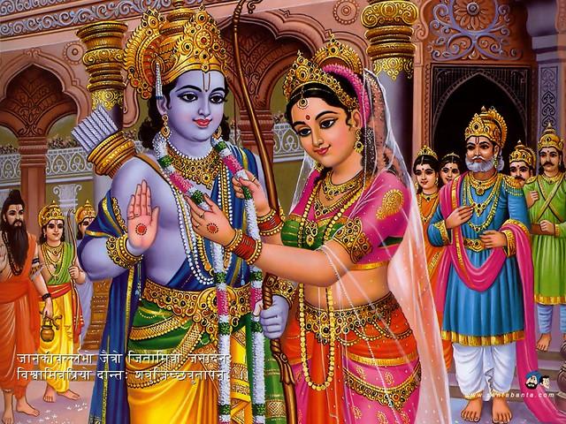 Why did Sita choose Rama as her husband in the swayamvar?