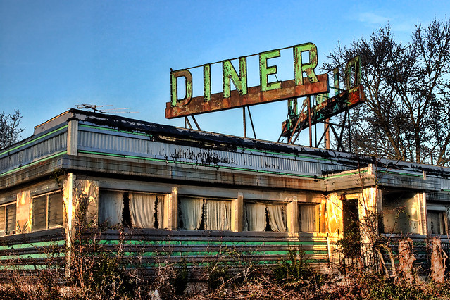 HDR New Jersey Diner Decay