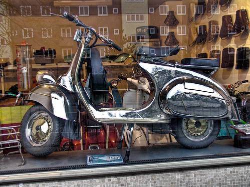 Silver Chrome Vespa