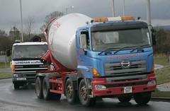 commercial vehicle, vehicle, transport, concrete mixer, bumper,
