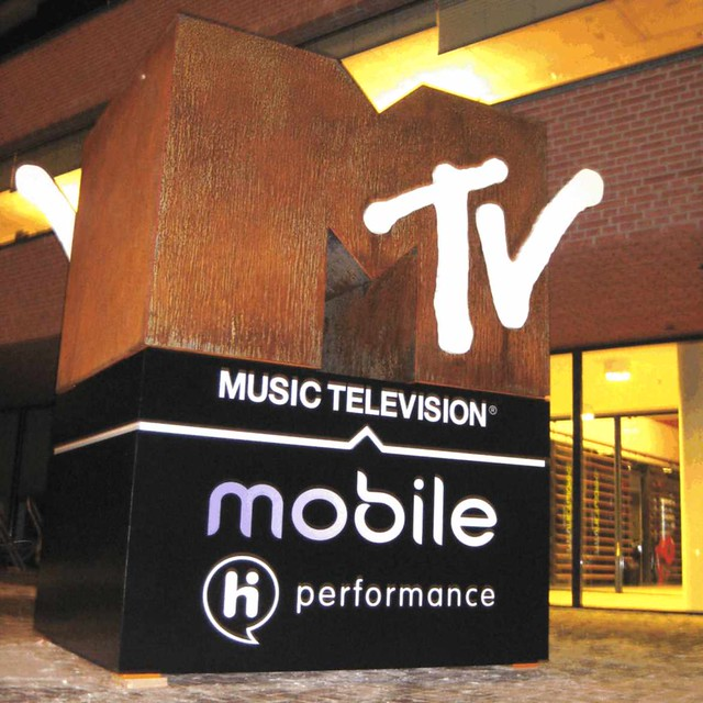 MTV Mobile object 3D reclame object ter introductie van het nieuwe mobiele merk u201c MTV Mobile / HI performanceu201d.
