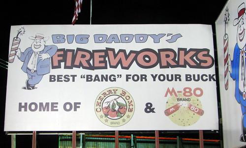 Big Daddy Fireworks sign