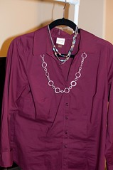 neck(0.0), violet(0.0), long-sleeved t-shirt(0.0), formal wear(0.0), blouse(0.0), pocket(0.0), sweater(0.0), magenta(1.0), clothing(1.0), purple(1.0), collar(1.0), sleeve(1.0), maroon(1.0), outerwear(1.0), shirt(1.0), pink(1.0),