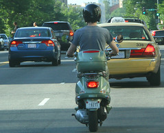 automobile, scooter, vehicle, motorcycle, motor vehicle, vespa,