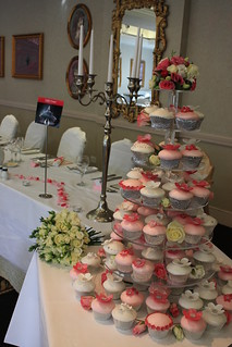 White & Pink Blossom Wedding Cupcakes