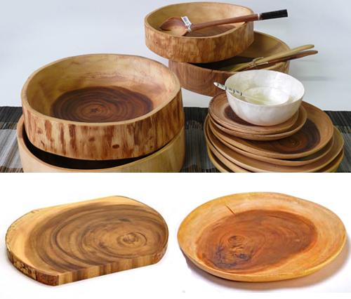 Acacia Wood Plates : Acacia wooden plates bowls the style files
