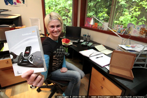 consulting milestone: her own solidworks license