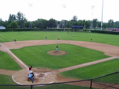 park game cold field minnesota fence ball town spring high view baseball ivy amateur mn overhead springers