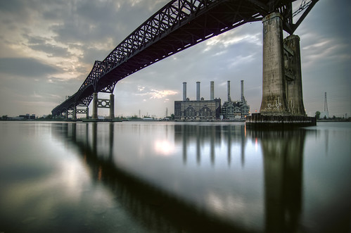 bridge sunset cloud geotagged newjersey jerseycity hdr pulaskiskyway mudpig stevekelley