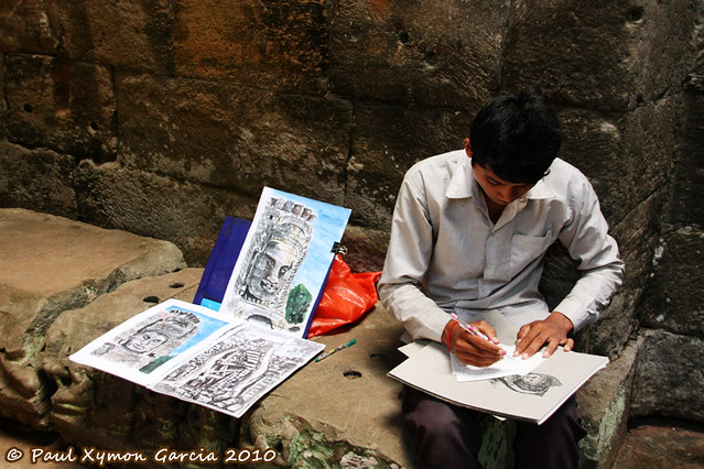 Artist in Preah Khan