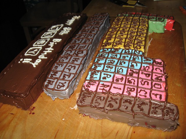 Periodic Table Cake Topper