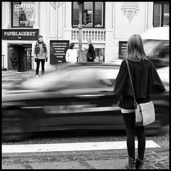 The blur of traffic