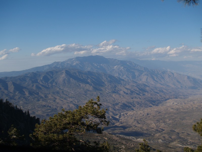 View north to Mt. San Jacinto in the afternoon