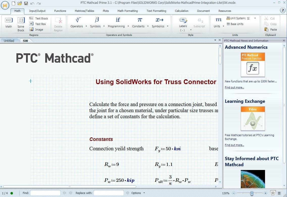 PTC Creo Mathcad 3.0 M130 32bit 64bit full crack