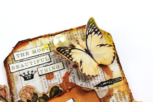 Meihsia Liu Simply Paper Crafts Miexed Media tag Distress Journey Simon Says Stamp Tim Holtz 2