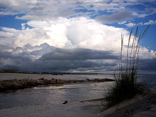 ocean blue sky gulfofmexico water weather clouds pier dock rocks waves seaoats cannal mattgerlachphotography mexicobeachflorida
