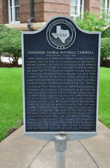 Photo of Thomas Mitchell Campbell black plaque
