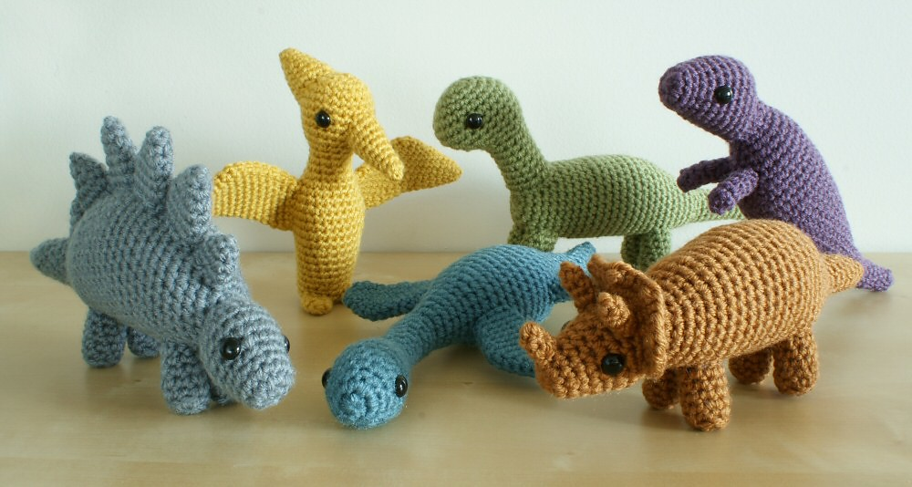 crocheted dinosaurs sets 1 and 2 Flickr - Photo Sharing!