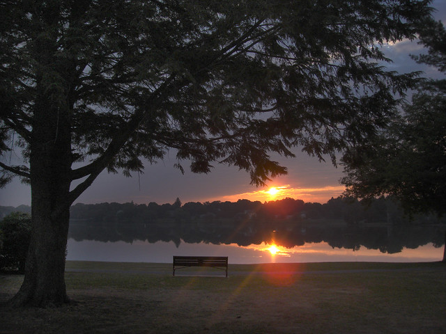 sunrise over Lake Quannapowitt; Wakefield, MA 2010