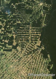 Deforestation, East Rondonia, Brazil, 2001 - Satellite image - PlanetObserver