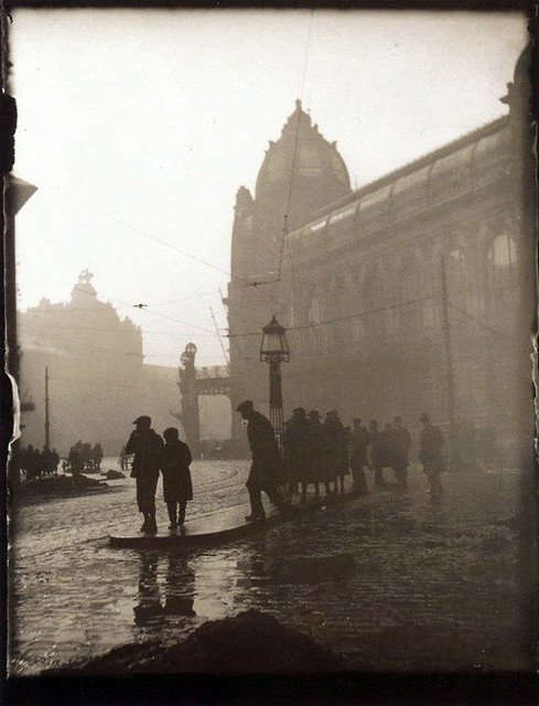 Morning in Na poříčí Street, by Josef Sudek 1919