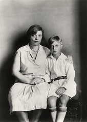 Dr Lu Strauss Ernst, divorced wife of painter Max Ernst, with her son, by August Sander 1928