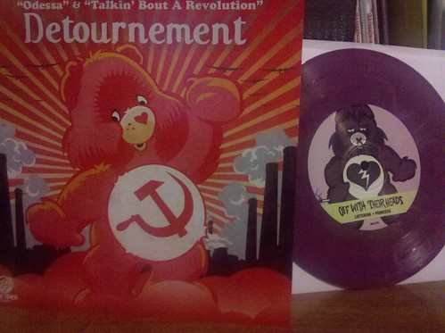 """Best 7"""" artwork I've seen in a long time: Off With Their  Heads/Detournment Split 7"""" by factportugal"""
