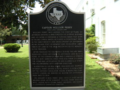 Photo of William Perry black plaque