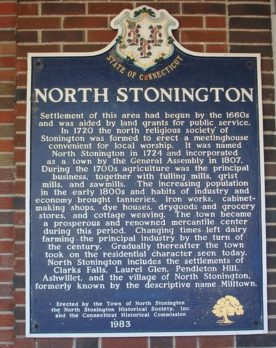 North Stonington, CT Historical Marker by midgefrazel