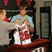 GM Gar Forman presents Kyle Korver his new Bulls jersey