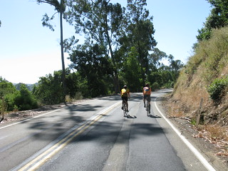 Dan and Kyle on Lake Chabot Road