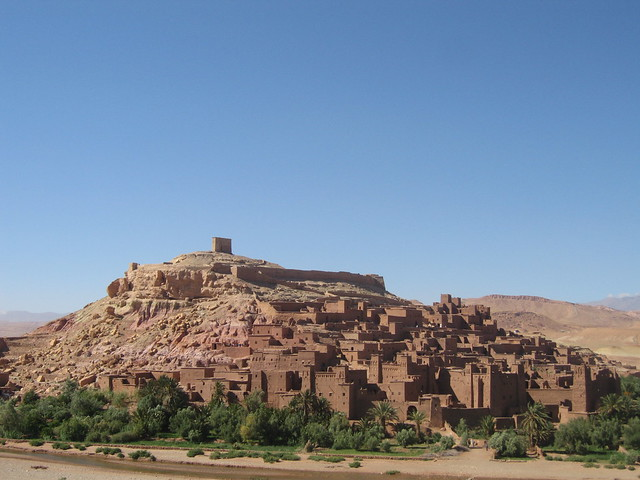The ksar of Aït Benhaddou - the view from the roof terrace of La Fibule d'Or