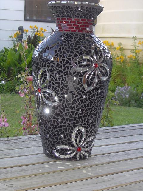 Mosaic Vase Stained Glass Mosaic Vase By Diane Kitchener Flickr Photo Sharing