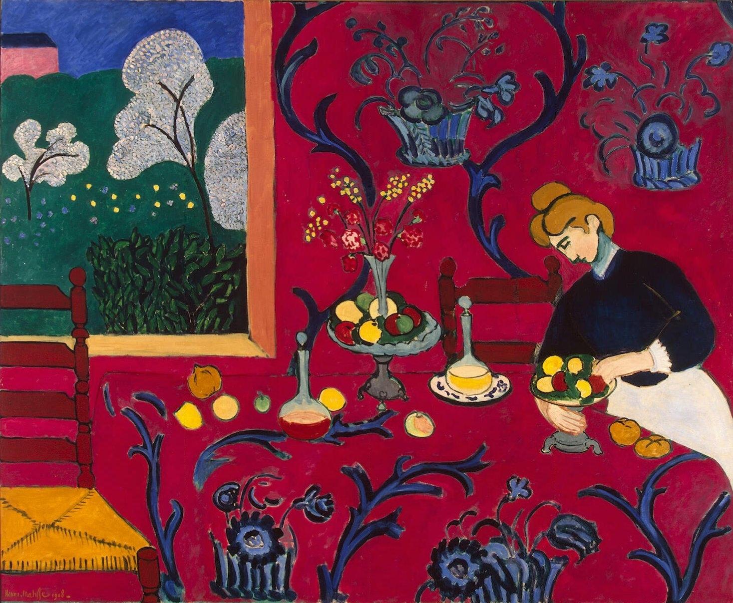 """Henri Matisse, """"The Desert: Harmony in Red"""" (1908)"""