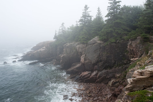 Coastline of Acadia National Park in Maine