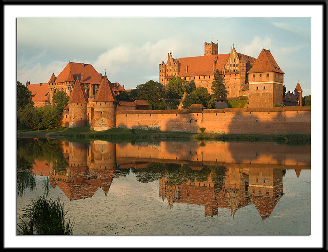 Teutonic Knights' Castle at Sunset