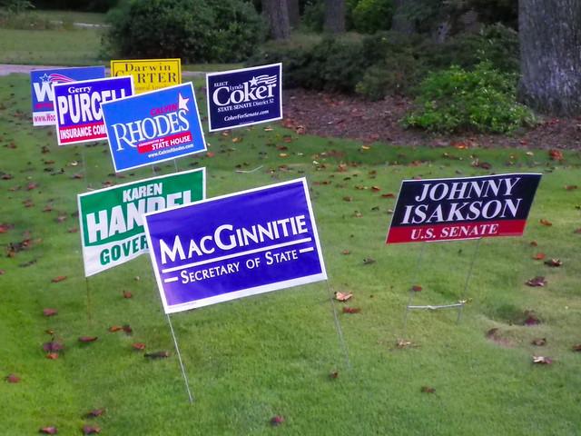 political yard signs marietta ga i saw these on a walk flickr photo sharing