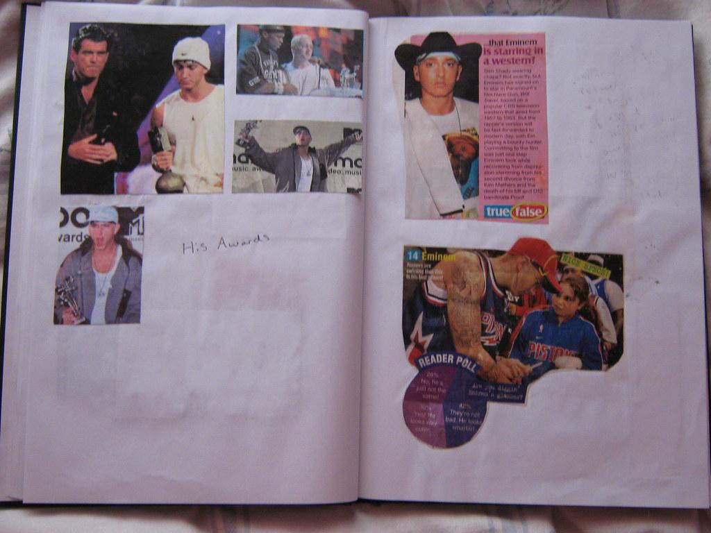 My Eminem scrapbook (2)