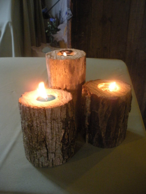 tree stump candle holder flickr photo sharing