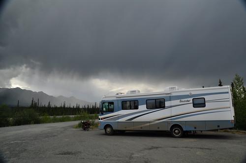 Una autocaravana camino de Alaska