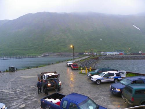 Meeting the Alaska Ferry at King Cove