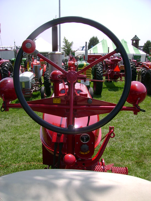 Farmall Super A Seat : Farmall h view from the seat of an