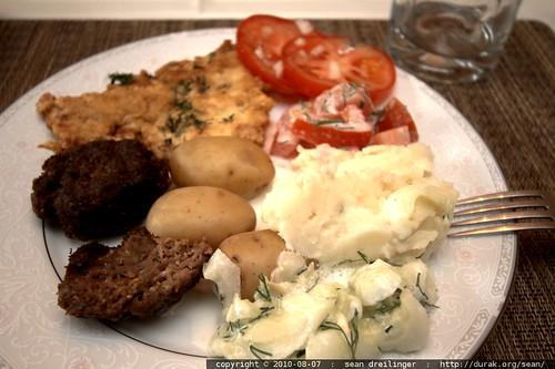 german dinner plate #1