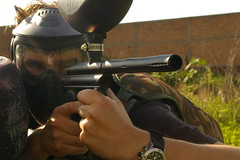 individual sports(0.0), shooting sport(0.0), shooting(1.0), sports(1.0), recreation(1.0), outdoor recreation(1.0), shooting range(1.0), games(1.0), firearm(1.0), gun(1.0), paintball(1.0),