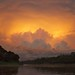 Amazon thunderstorm at sunset by PeterQQ2009
