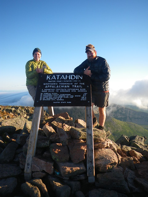 Misti & Chris @ Katahdin Summit