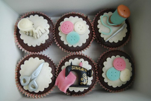 Chocolate cupcakes for a dressmaker