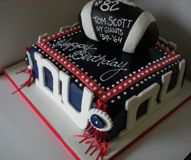 65 NY Giants Birthday Cake  Flickr - Photo Sharing!