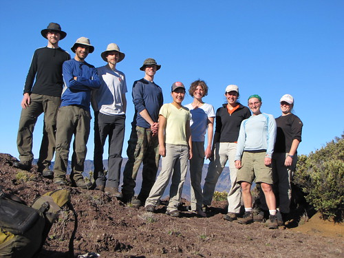 The 2010 crew on the ridge of Haleakala.